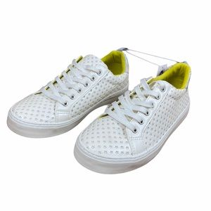 NWT Girls Star Sneakers Neon Holographic Size 5